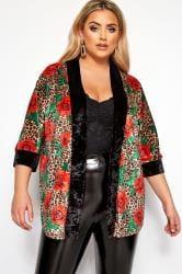 LIMITED COLLECTION Kimono z wzorem zwierzęcym