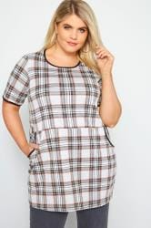 LIMITED COLLECTION Grey Check Tunic Top