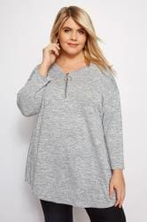 LIMITED COLLECTION Grey Zip Front Top