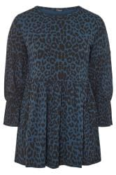 LIMITED COLLECTION Navy Leopard Peplum Top