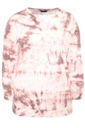 LIMITED COLLECTION Batik-Sweatshirt - Rosa/Weiß