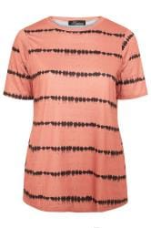 LIMITED COLLECTION Rust Tie Dye Print Top