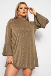 LIMITED COLLECTION Stone Ribbed Swing Dress