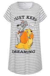Nachthemd mit Susi und Strolch-Motiv - Grau