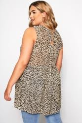 Leopard Print Button Front Tunic