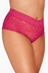 Magenta Pink Lace Shorts