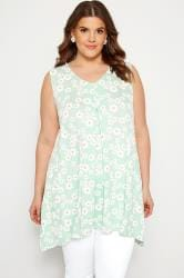 Mint Green Daisy Swing Vest Top