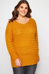 Mustard Ripple Stitch Jumper