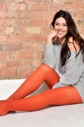 Orange 50 Denier Tights