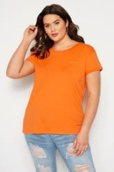 Orange Mock Pocket T-Shirt