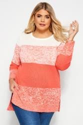Pullover mit Colorblocking - Rosa/Weiß