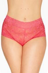 Spitzen-Shorts - Pink