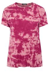 LIMITED COLLECTION Hot Pink Tie Dye T-Shirt