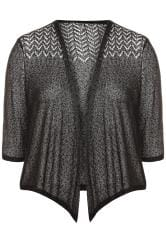 Black Fine Knit Shrug