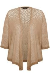 Stone Waterfall Fine Knit Shrug