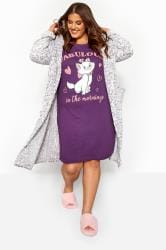 Purple Disney Marie 'Fabulous' Aristocats Nightdress