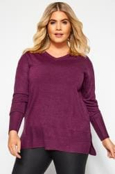 Purple Fine Knit Cashmilon Jumper