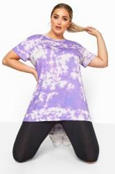 LIMITED COLLECTION Purple Tie Dye T-Shirt