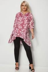 Pink & White Layered Blouse With Notch Neck