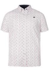 RAGING BULL White Rose Print Shirt