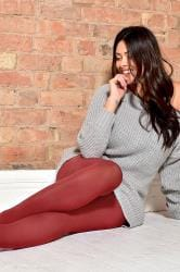 Red 50 Denier Tights