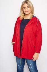 Rode katoenen jas