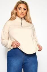 LIMITED COLLECTION Stone Zip Neck Top