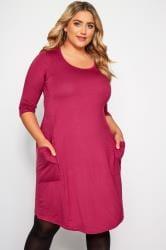 Rose Drape Pocket Dress