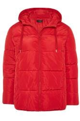 Red Short Puffer Coat