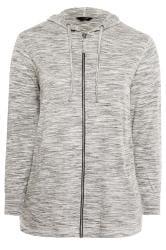 Grey Marl Zip Through Hoodie