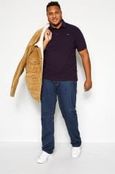 BadRhino Purple Birdseye Polo Shirt