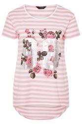 Pink Stripe Varsity Floral Top