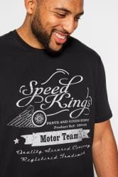 BadRhino Black Speed Kings Graphic Print T-shirt