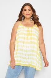 Yellow Tie Dye Vest Top