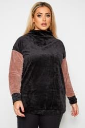 LIMITED COLLECTION Black Teddy Velour Jumper