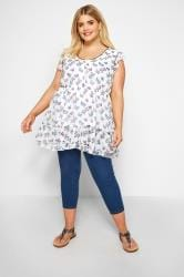 White Butterfly Chiffon Smock Top