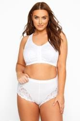 White Lace Front Fastening Bra