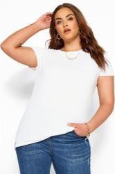 T-Shirt mit Ziertasche - Weiß