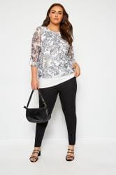 White Paisley Layered Crochet Top
