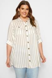 White Stripe Utility Shirt