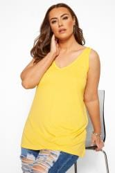Yellow Cross Back Vest Top