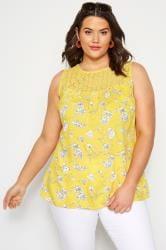 Yellow Floral Crochet Vest