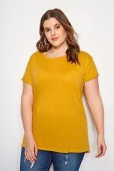 Mustard Mock Pocket T-Shirt