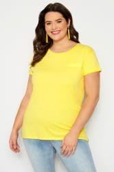 Yellow Mock Pocket T-Shirt
