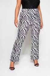 LIMITED COLLECTION Black & White Zebra Print Trousers