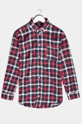 BadRhino Red & Navy Brushed Cotton Check Shirt