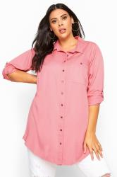 Pink Oversized Boyfriend Shirt