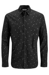 JACK & JONES Black Madison Printed Shirt