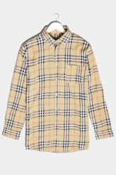 BadRhino Camel Brushed Cotton Flannel Check Shirt
