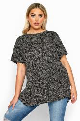 LIMITED COLLECTION Black Ditsy Floral Swing Top